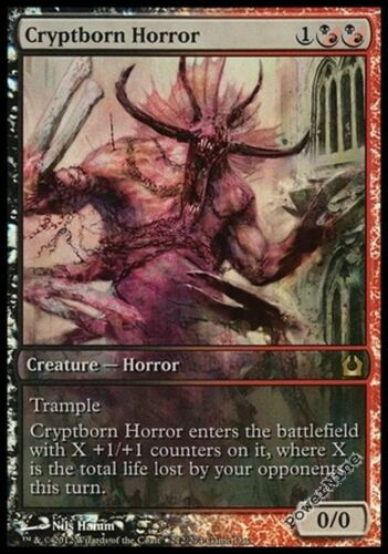 4 PROMO FOIL Cryptborn Horror Hybrid Game Day Mtg Magic Rare 4x x4