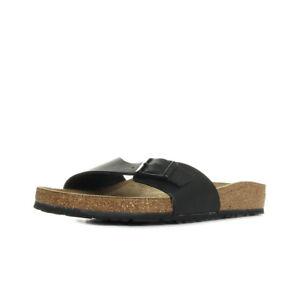 Sandales-Nu-Pieds-Birkenstock-homme-Madrid-taille-Noir-Noire-Synthetique-A