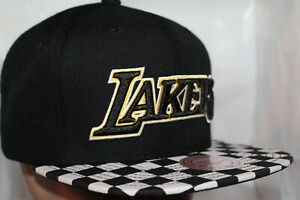 Los-Angeles-Lakers-Mitchell-amp-Ness-NBA-Checked-Out-Snapback-Hat-Cap-NEW