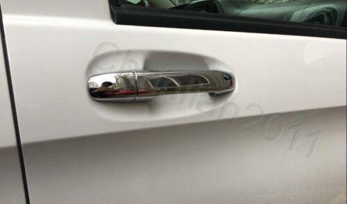 Chrome Door Handle Cover Trim for 14-17 Mercedes Benz V-Class W447 8pcs