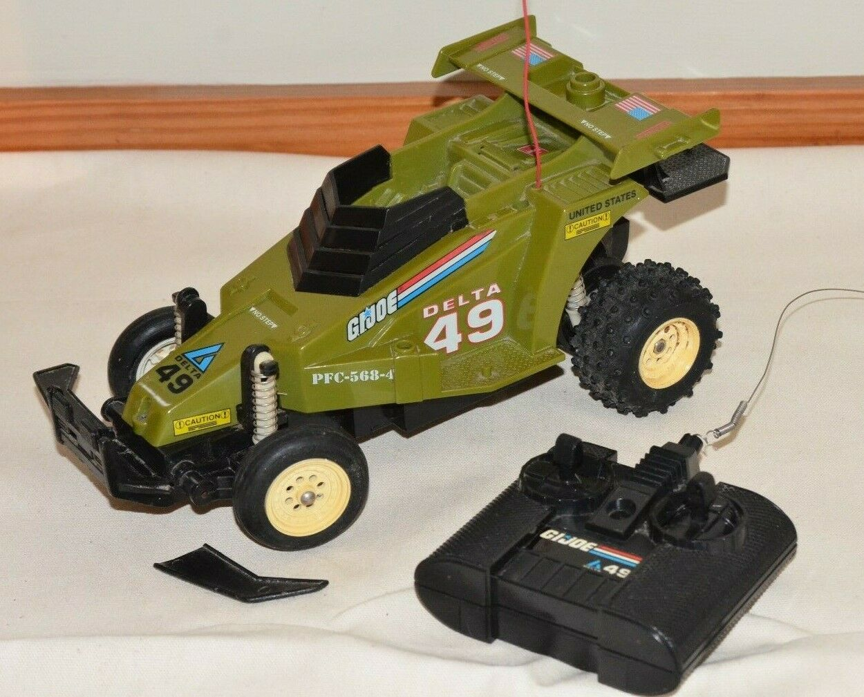 GI JOE Delta 49 Crossfire Remote Control Unit & RC Vehicle 1987 works w  issues