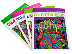 1 x ART ADULT COLOURING BOOK COLOUR THERAPY ANTI STRESS RELAXATION CALM
