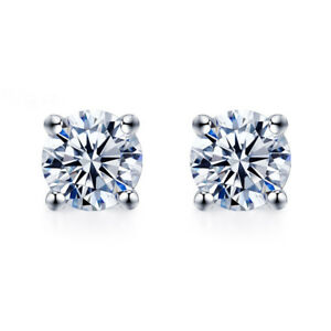 18K-WHITE-GOLD-GF-MADE-WITH-SWAROVSKI-CRYSTAL-EARRINGS-STUD-6MM-0-8CT