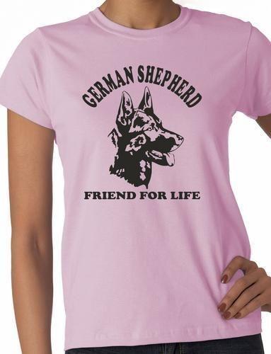 German Shepherd Dog Lover Pet Ladies T-Shirt Gift  Size S-XXL