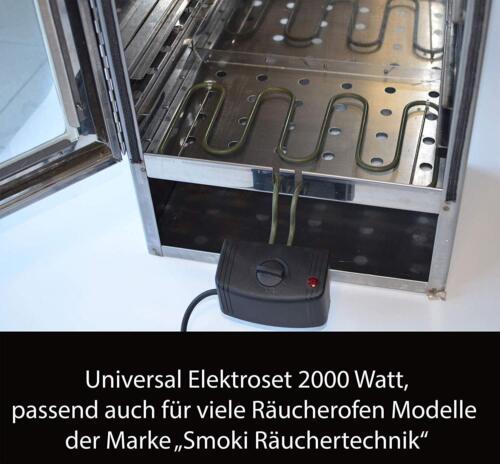 Elektroheizung 2kW passend für Räucherofen Räuerschrank mit schmaler Halterung