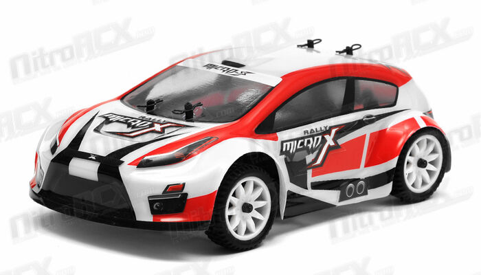 MicroX Racing 1/24 Scale Micro RC Rally Car Electric RTR Ready to Run 2.4Ghz rosso