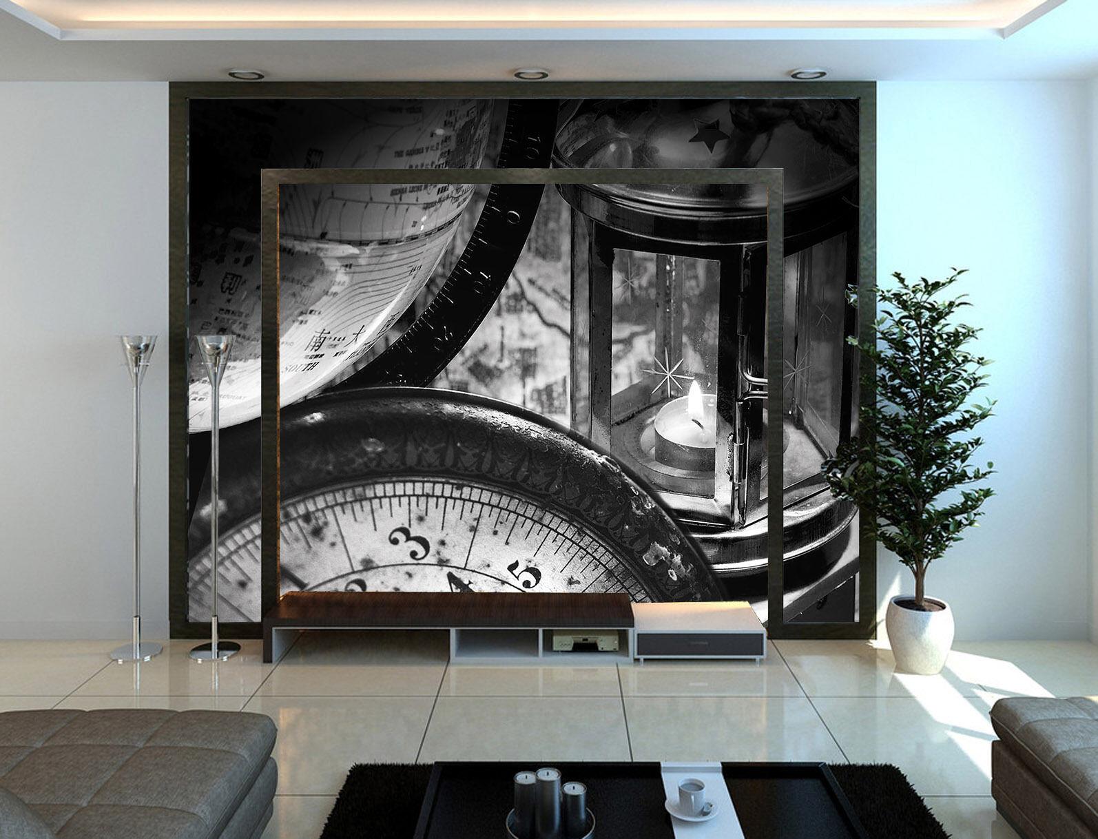 3D Uhren, globen 07676 Fototapeten Wandbild Fototapete BildTapete Familie