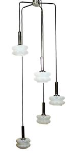 Kaskaden-Leuchte-Opalglas-Design-Haenge-Lampe-5flammig-160-cm-DVintage-60er-70er