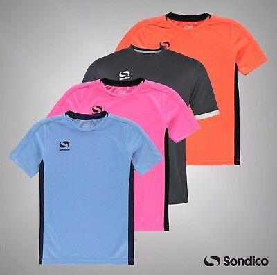 NUOVO RAGAZZO SONDICO Calcio Formazione Camicia Sport Top RUNNING RUGBY ~ età 1-13 Anni