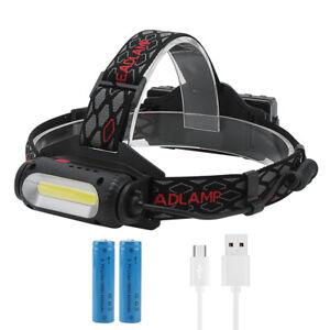 Hell 90000LM T6 5 LED USB Scheinwerfer Stirnlampen Kopflampe Kopf Lamp Licht Hot