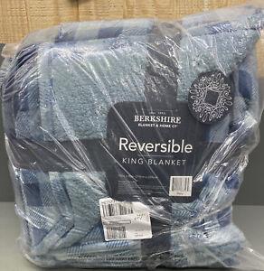 NEW Berkshire Buffalo Velvet Soft Reverse to Sherpa Full Blanket Blush