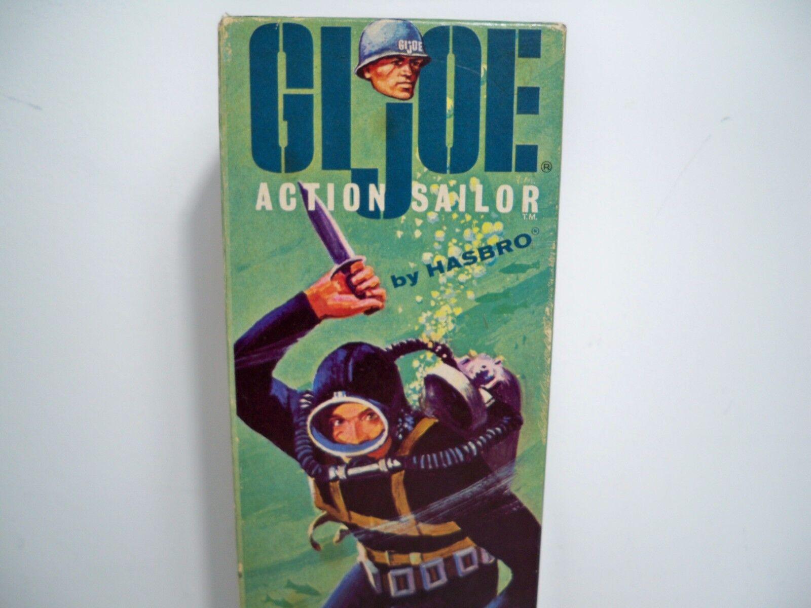 D1000514 ACTION SAILOR 12 INCH FIGURE GI JOE VINTAGE LOOSE W  BOX MINTY NO WEAR