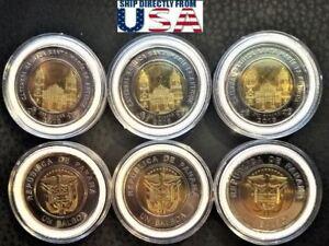 Panama coins new issue 1 balboa 2018-2019 *8  coins JMJ*