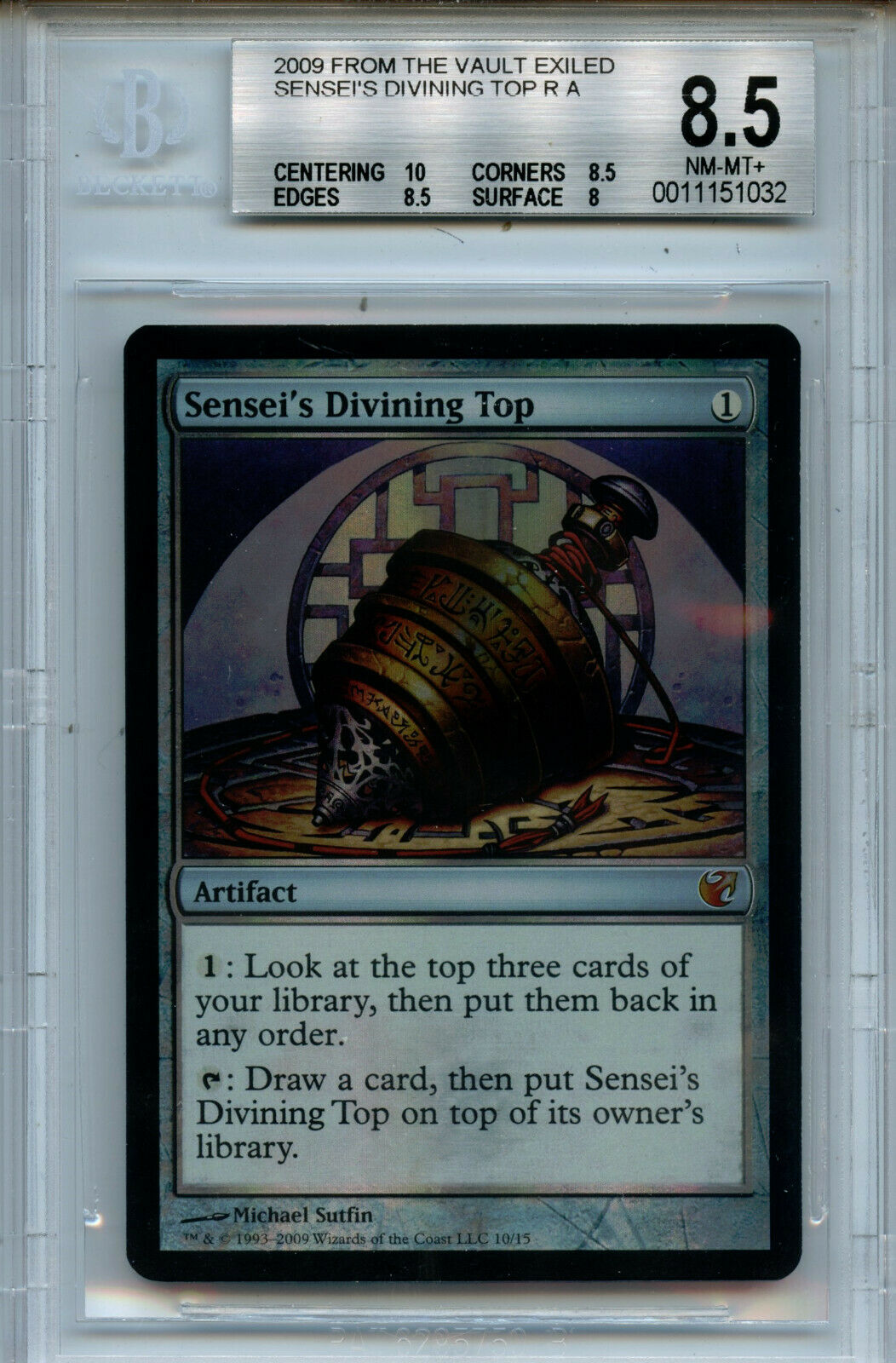 MTG Sensei's Divining Top BGS 8.5  FTV Exiled Foil Magic Card Amricons1032