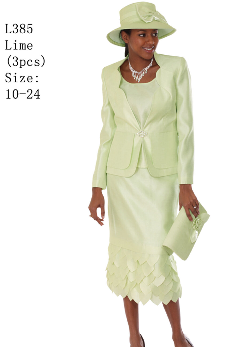 8481925c2f285 Details about Sunday Best Women Church Suit - Soft Crepe Fabric - Standard  to Plus Size L385