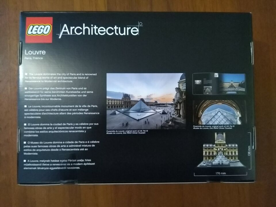 Lego Architecture, 21024 Louvre *NYT*