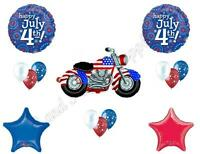 Motorcycle 4th July Party Balloons Decoration Supplies Biker Cookout Harley