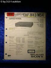 Sony Service Manual CDP M43 / M54 CD Player (#0814)