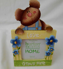Teddy Bear Love Grows Here 3X3 Photo Picture Frame by Lori Gardner