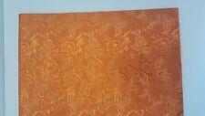 Orange Gold flower African Headtie, Head Gear , 2.5 Yds