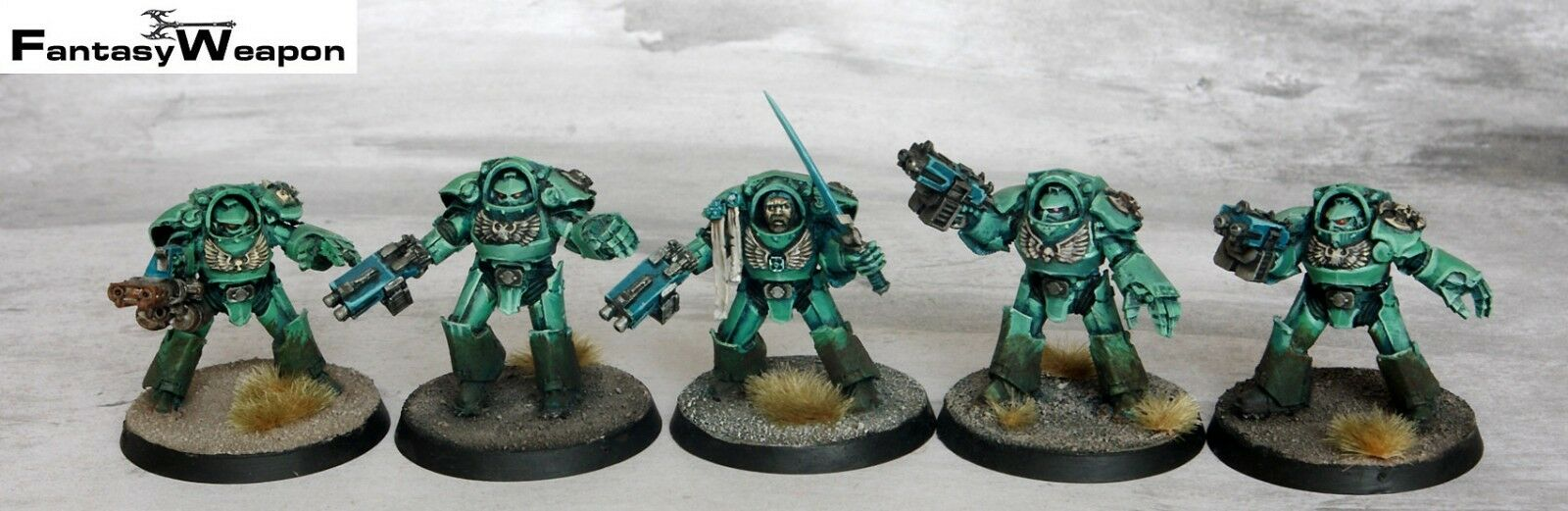 Tartaros Terminators forgeworld  Pro Painted    wh40k  space marine