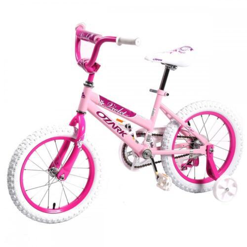 "16/"" Children BMX Girls Kids Bike Bicycle With Training Wheels Steel Frame 16G"