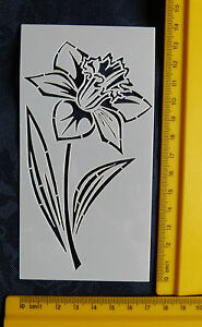 Plastic-PVC-Embossing-Stencil-SMALL-Daffodil-Flower-BEAUTIFUL-Bendy