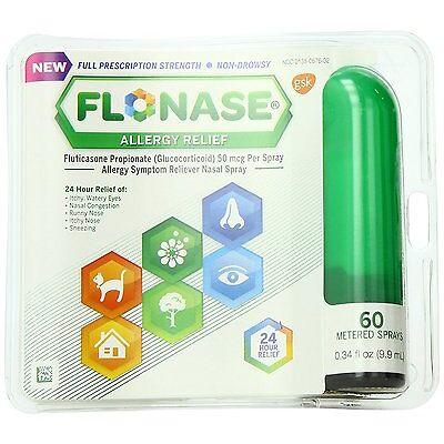 Flonase Fluticasone Propionate Nasal Spray for Allergy Relief 60 Ct Each