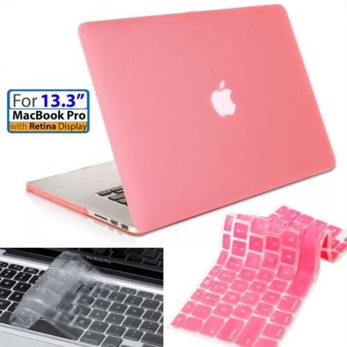 "GIRLY Pink 13/"" Smooth Finish Case+Pink Keyboard Macbook Pro w//Retina A1425//A1502"