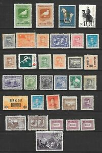 CHINA-PAGE-OF-33-SOUND-MINT-HINGED-amp-USED-STAMPS