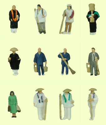 """Tomytec (Ningen 028) Model People """"People at the Temple"""" 1/150 N scale"""