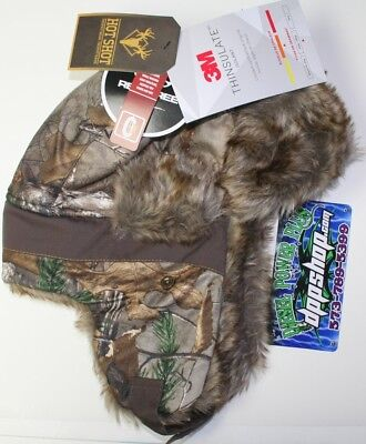 L NEW real tree camo bomber insulated hat hot shot stocking cap trapper beanie 1