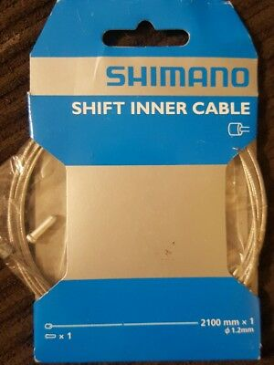 Shimano Shifter Inner Cable 2100mm x 1.2mm Original 2 Pair