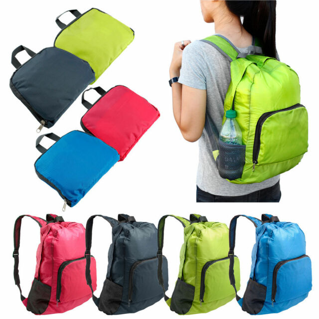 Durable Folding Packable Waterproof Travel Hiking Backpack Camping Outdoor Bags