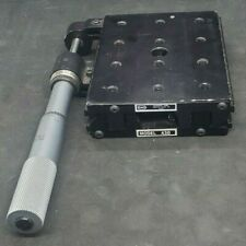 Newport 430 Linear X Stage Positioner With 2 Starrett Micrometer