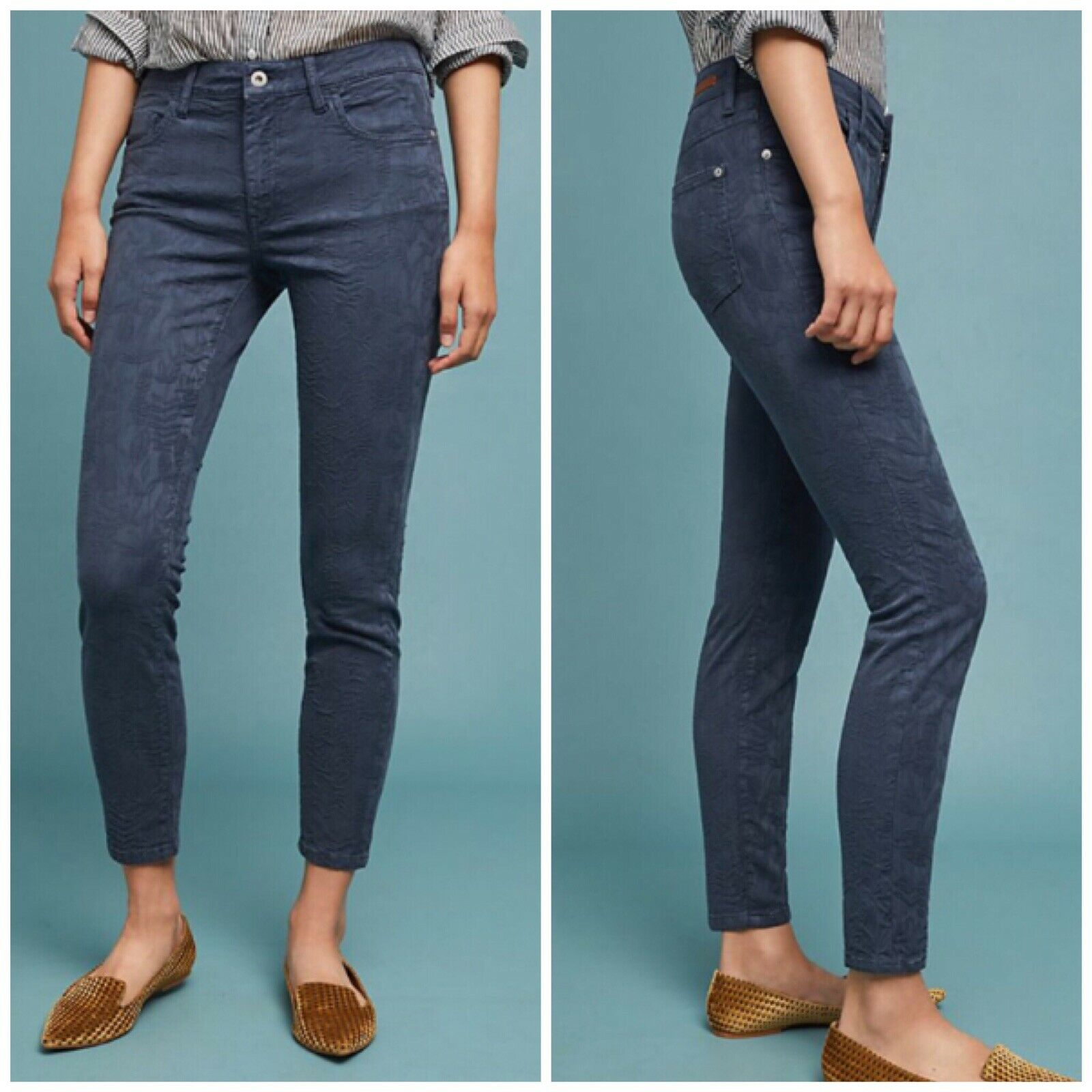 Anthropologie Pilcro And The Letterpress Skinny Ankle Jean Woman Size 25 New