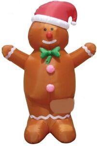 CHRISTMAS SANTA 7 FT GINGERBREAD MAN  INFLATABLE AIRBLOWN YARD DECORATION