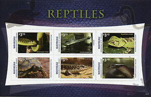 Mayreau-Grenadines-St-Vincent-2015-neuf-sans-charniere-reptiles-6V-m-s-ii-Serpents-Tortues-Lezards