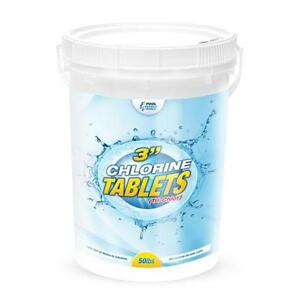50 lb Bucket - 3 In. Chlorine Pool Tabs - Pool Sanitizer 99% Tri-Chlor