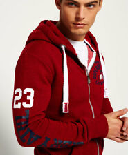 New Mens Superdry Trackster Zip Hoodie Redhook Grit