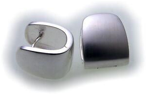 Neu-Damen-Ohrringe-Klapp-Creolen-echt-Silber-925-Sterlingsilber-Klappcreolen