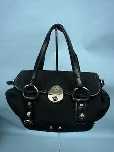 Biasia Francesco Black Handbag leather Fabric qMGLUzpSV