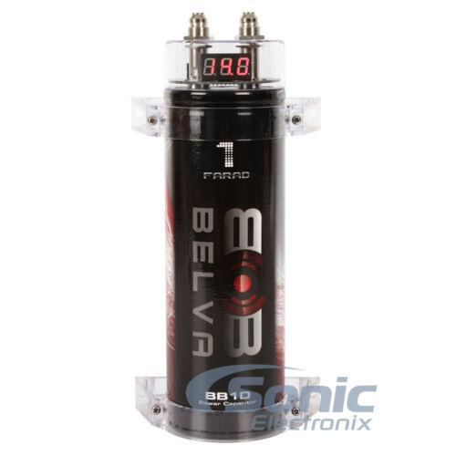 Belva B1DK42R 1 Farad Capacitor /& 4 Gauge 2 Channel Car Audio Amplifiers Kit Red