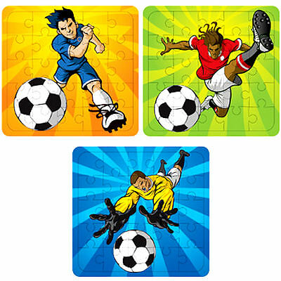 6 x Football Jigsaw Puzzles - Children's Activities / Party Bag Filler Toys!