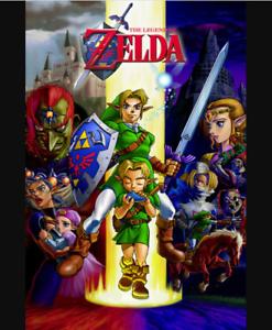 "Zelda Ocarina of Time Gaming Cool Wall Decor Art Print Poster 24/"" x 36/"""