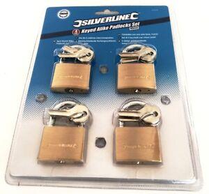 Padlock 4 x Pack of 40mm Keyed Alike Padlocks