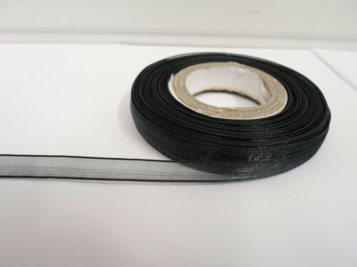 9mm Sheer Organza Ribbon 2 metres or 25 metre roll double sided 9 mm UK VAT Reg