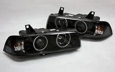 KLARGLAS G5 CCFL NEON ANGEL EYES SCHEINWERFER BMW E36 LIMOUSINE TOURING BLACK