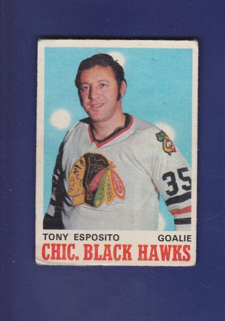 Tony Esposito HOF 1970-71 O-PEE-CHEE OPC Hockey #153 (VG+) Chicago Blackhawks