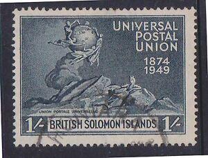 (K5-99) 1949 British Solomon Islands 1/- black UPU (J)